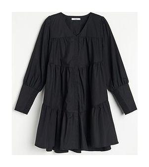 Reserved - Sukienka z bawełny organicznej - Czarny