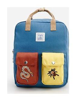 Reserved - Plecak z aplikacjami - Niebieski