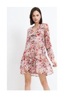 Mohito - Sukienka w kwiatowy wzór - Różowy