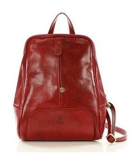 Plecak skórzany włoski MAZZINI - Capri czerwony