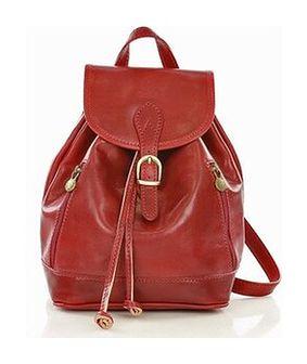 Włoski plecak skórzany VALENTINO czerwony