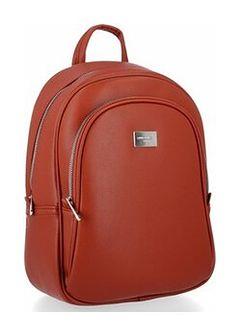 Solidne Plecaki Damskie w rozmiarze XL firmy David Jones Ceglasty (kolory)