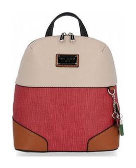 Modne Plecaczki Damskie firmy David Jones Beżowy (kolory)