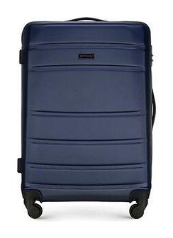 Średnia walizka z ABS-u żłobiona