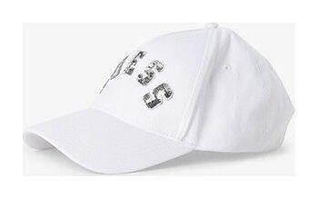 GUESS - Damska czapka z daszkiem, biały