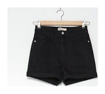 House - Szorty jeansowe z wysokim stanem - Czarny