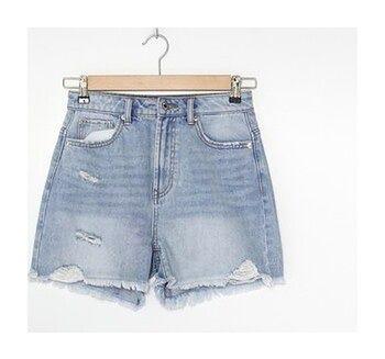 House - Szorty jeansowe z wysokim stanem - Niebieski