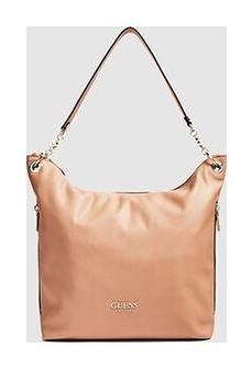 GUESS - duża beżowa torebka na ramię
