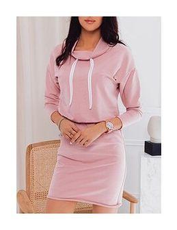 Sukienka damska tunika 003DLR - różowa