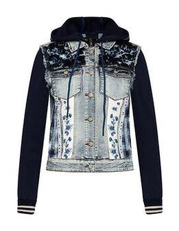 Desigual Kurtka jeansowa tamar 21SWED02 Granatowy Slim Fit