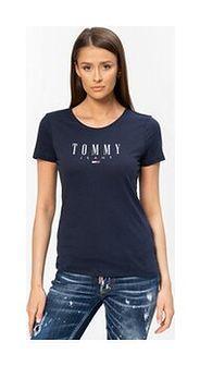 TOMMY JEANS - granatowy t-shirt damski z logo