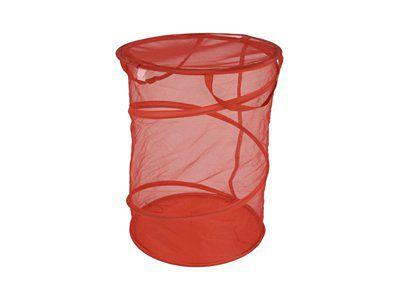 czerwony kosz na pranie