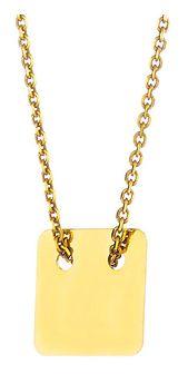 Złoty naszyjnik z kwadratem
