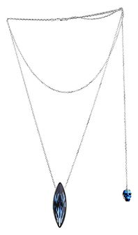 Naszyjnik srebrny z kryształem