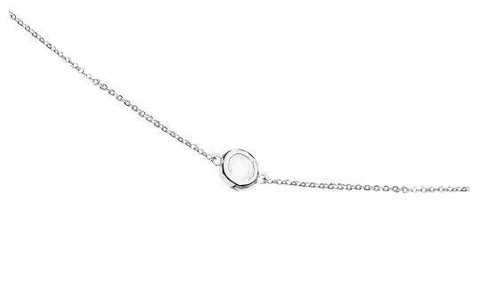 Łańcuszek srebrny na talię z cyrkonią