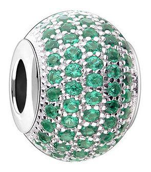 Zawieszka srebrna beads z cyrkoniami