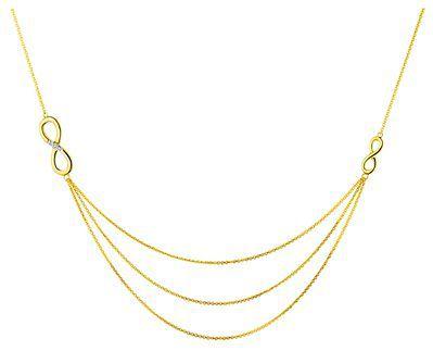 Naszyjnik z żółtego złota z diamentami