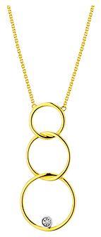 Naszyjnik z żółtego i białego złota z diamentem