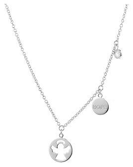 Naszyjnik srebrny z cyrkonią - aniołek