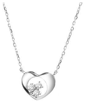 Naszyjnik srebrny z cyrkoniami - serce
