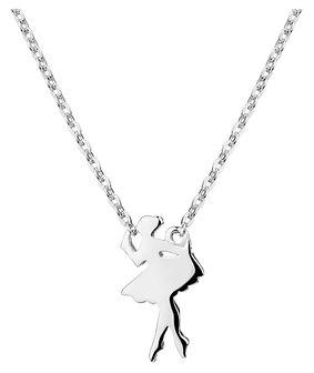 Naszyjnik srebrny - baletnica