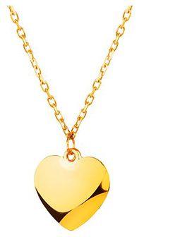 Złoty naszyjnik - Serce