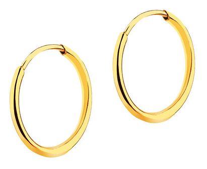 Złote kolczyki kółka - 9 mm