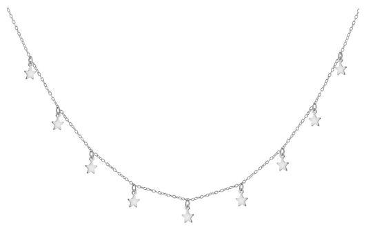 Naszyjnik srebrny - gwiazdki