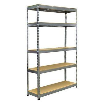 Regał metalowy Stabil 180 x 120 x 40 cm 5 półek 200 kg ocynk