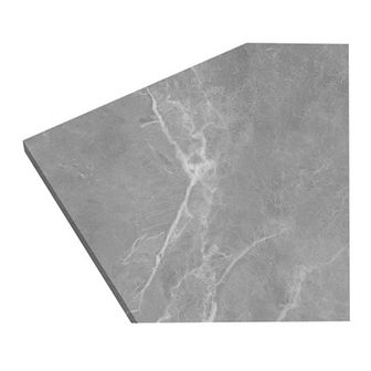 Blat laminowany GoodHome Algiata 22 x 300 cm szary marmur