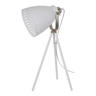 Lampka biurkowa Franklin 1 x 60 W E27 biała/chrom
