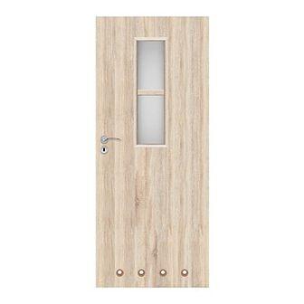 Drzwi z tulejami Olga 70 prawe dąb sonoma