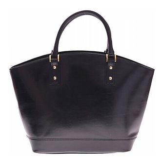 Shopper bag Genuine Leather granatowy