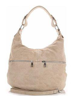 Shopper bag Genuine Leather bezowy