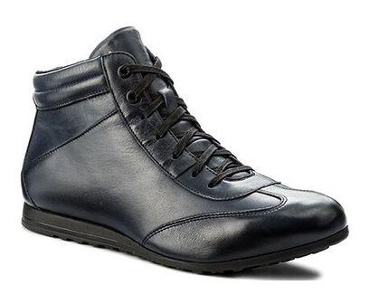 Buty zimowe męskie Gino Rossi czarny