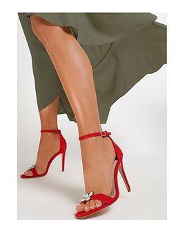 Sandały damskie Renee czerwony