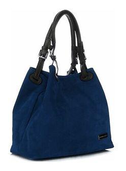 Shopper bag Vittoria Gotti granatowy