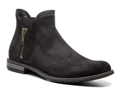 Buty zimowe męskie Gino Rossi ze skóry bez zapięcia szare