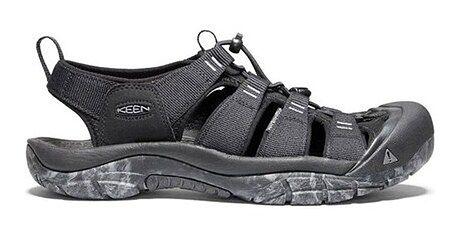 Keen sandały męskie bez zapięcia czarne casualowe