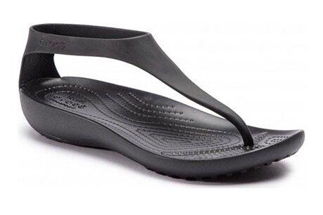 Sandały damskie Crocs czarne bez zapięcia