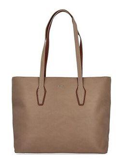 Shopper bag David Jones na ramię matowa duża
