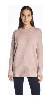 Sweter damski Gate z okrągłym dekoltem bez wzorów