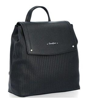 Plecak David Jones czarny ze skóry ekologicznej