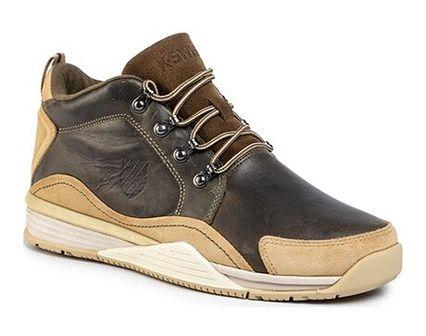 Buty sportowe męskie K-Swiss brązowe sznurowane