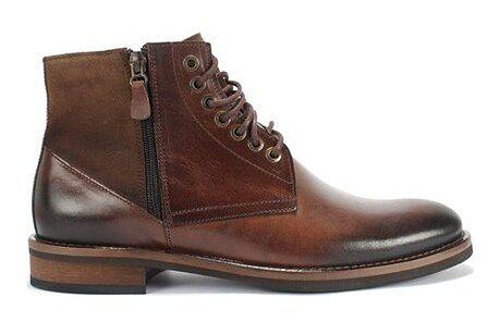 Buty zimowe męskie Domeno na zimę sznurowane