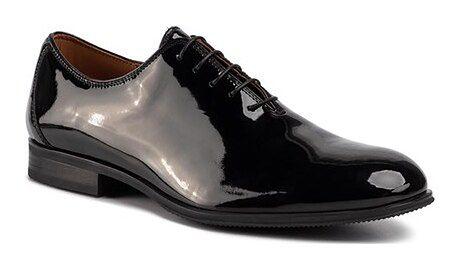 Buty eleganckie męskie Gino Rossi czarny