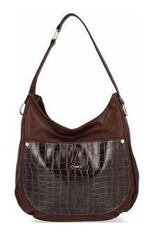 Shopper bag Conci bez dodatków duża elegancka z tłoczeniem ze skóry ekologicznej