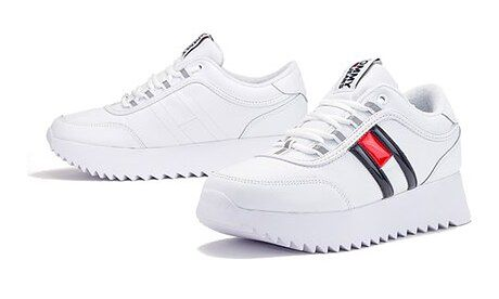 Buty sportowe damskie Tommy Hilfiger sneakersy na platformie z tkaniny