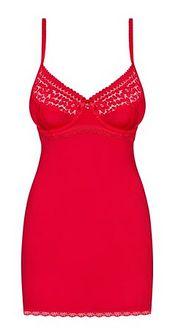 Czerwona koszula nocna Obsessive w kwiaty elegancka