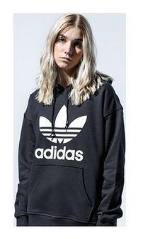 Bluza damska czarna Adidas krótka